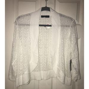 NWT Cyrus Women's White Open Cardigan, Size 1X